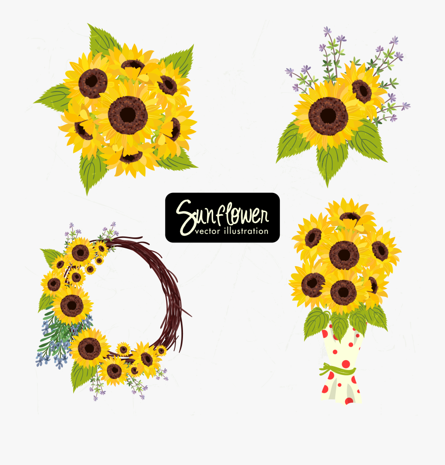 Basket Clipart Sunflower.