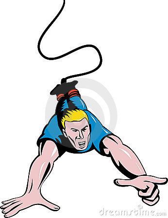 Bungee Stock Illustrations.