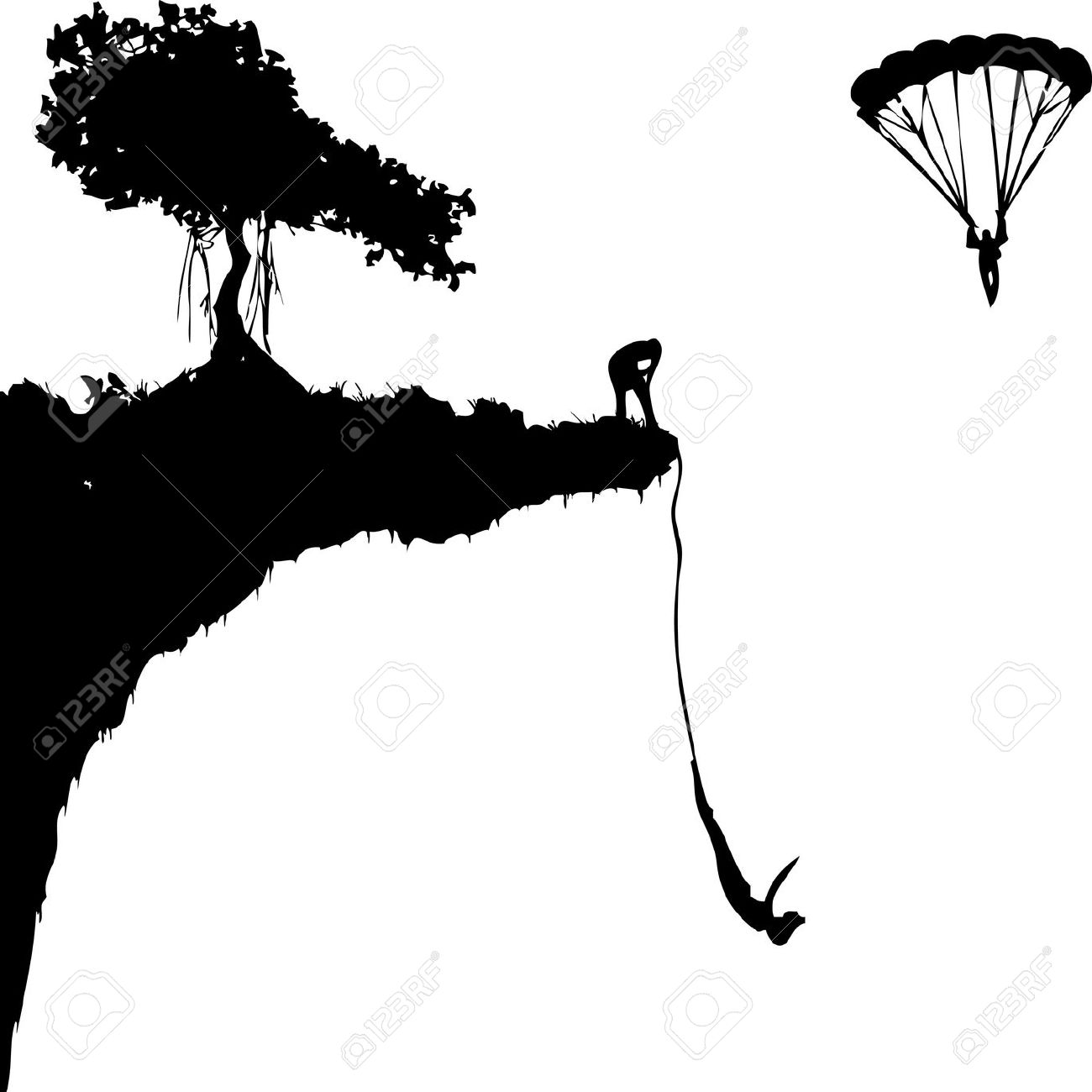 Bungee jumping clipart.