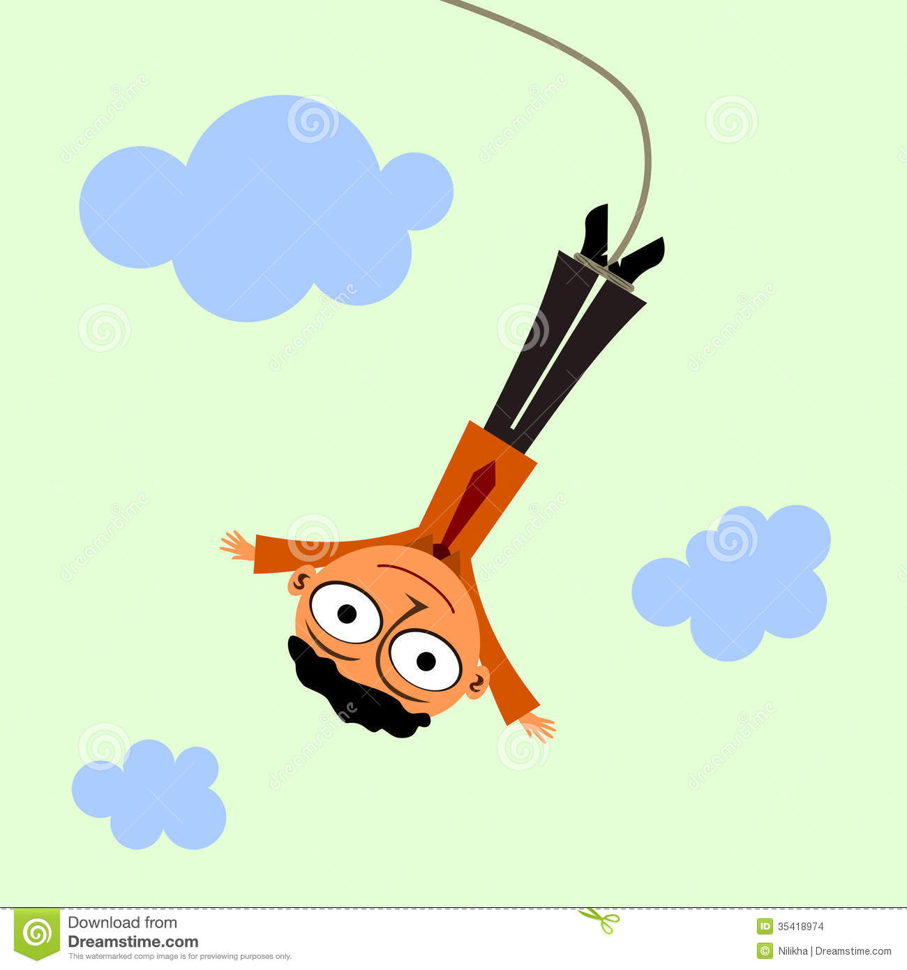 Man Bungee Jumping Stock Illustrations.