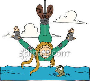 Bungee Jumping Over the Ocean.