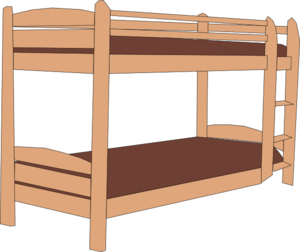 Bunk bed clip art.