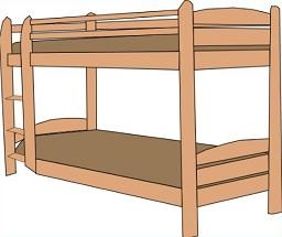 Clipart bunk bed.