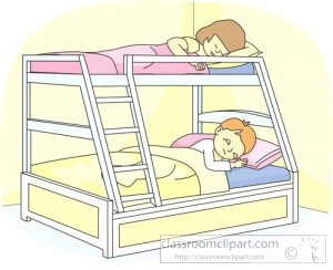 Kid Sleeping In Bed Clipart.