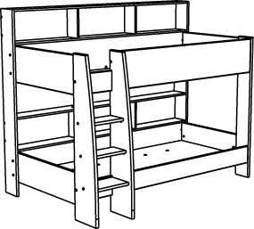 Bunk Bed Drawing.