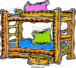 bunk beds Vector Clip art.