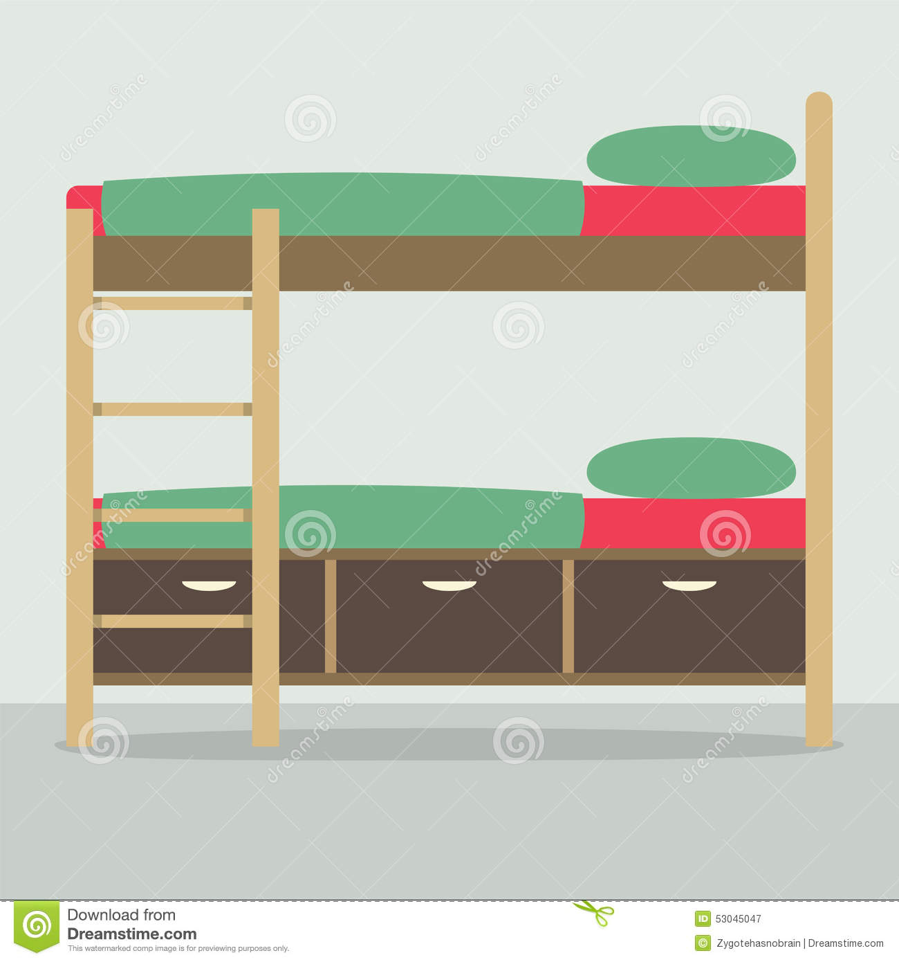Bunkbed Stock Illustrations.