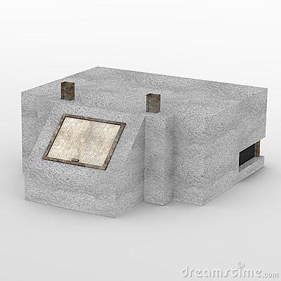 Concrete Bunker Stock Illustrations.
