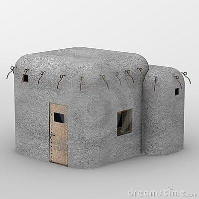 Bunker Military Stock Illustrations.