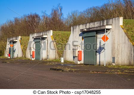 Stock Images of Ammunition Bunker.