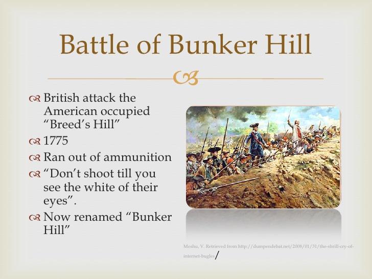 Battle of bunker hill clipart.