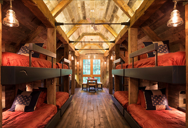 Bunk House with Rustic Interiors.