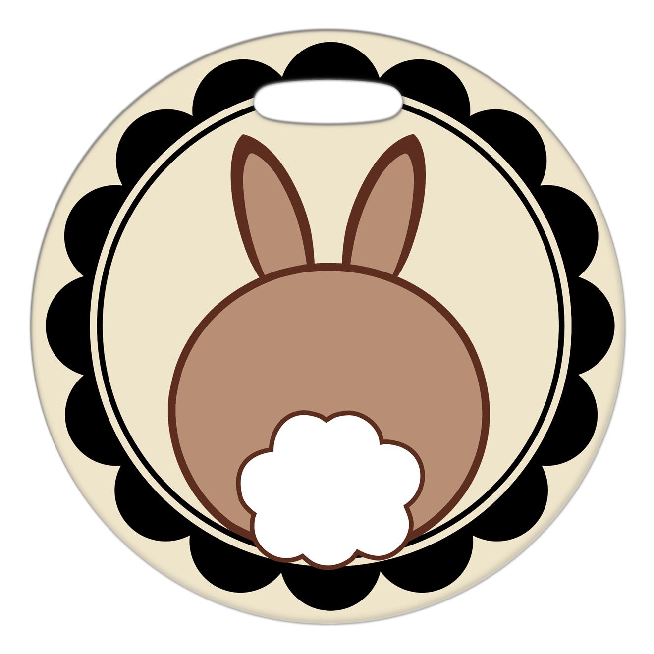Bunny Butt Framed.