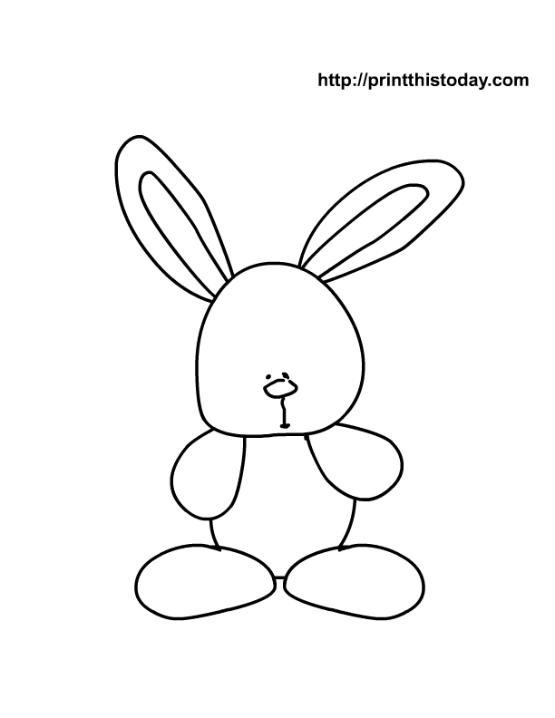 Rabbit Outline Drawing at GetDrawings.com.