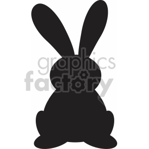 easter bunny ears up svg cut file clipart. Royalty.