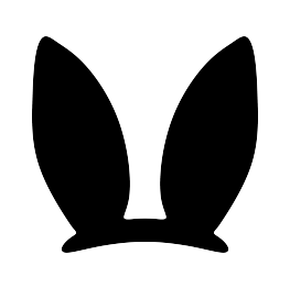 Easter Bunny Ears Silhouette.