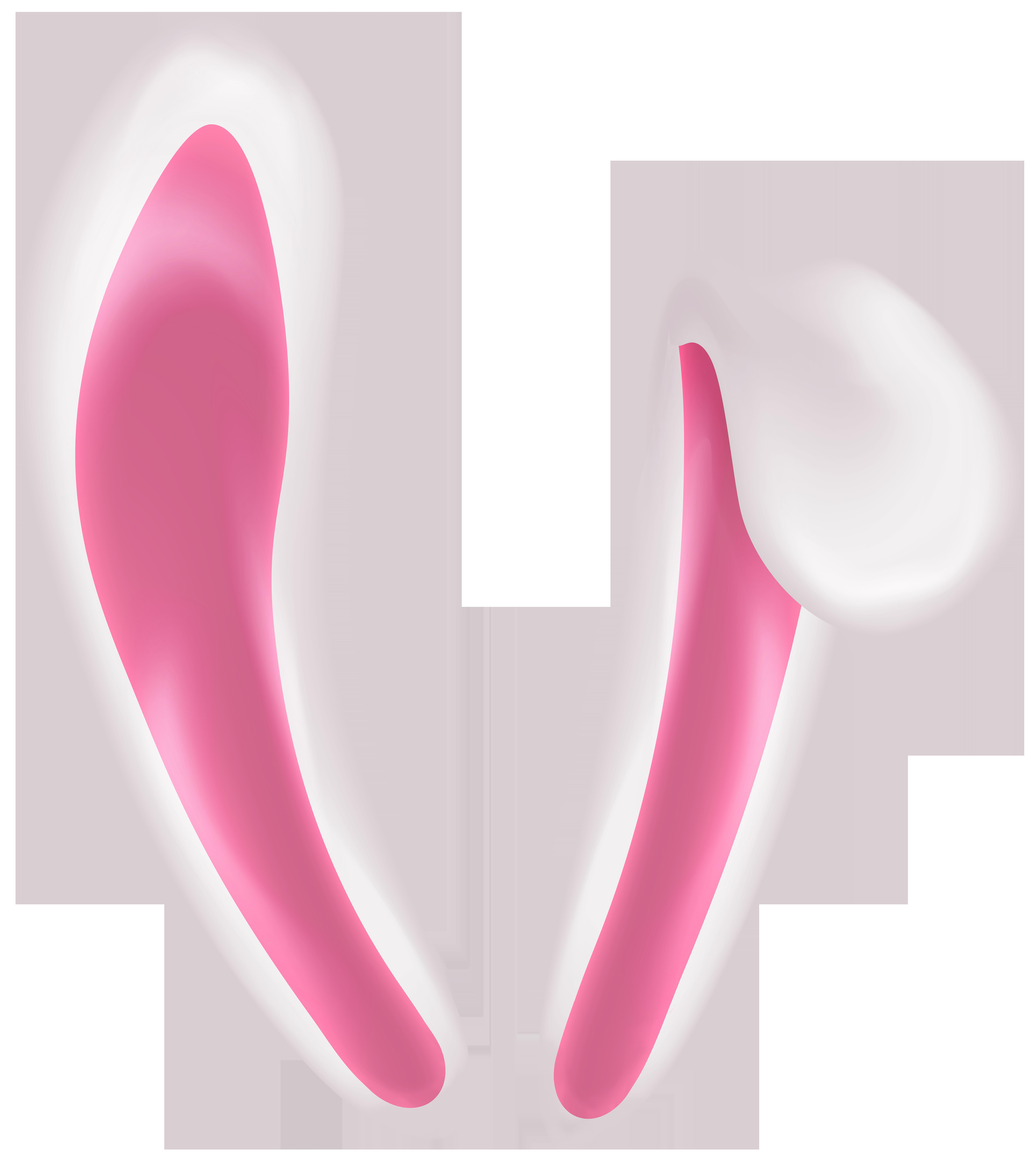 Bunny Ears Transparent Clip Art Image.