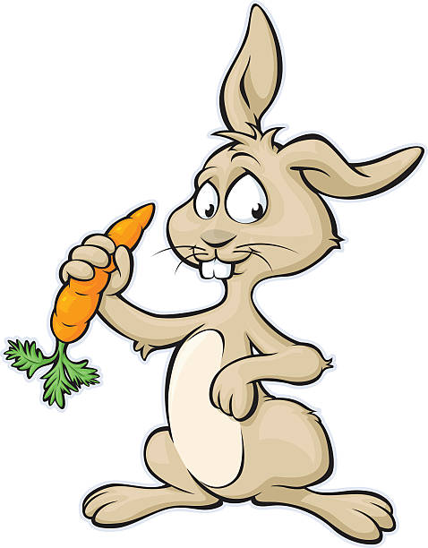 bunny eating carrot clipart - Clipground