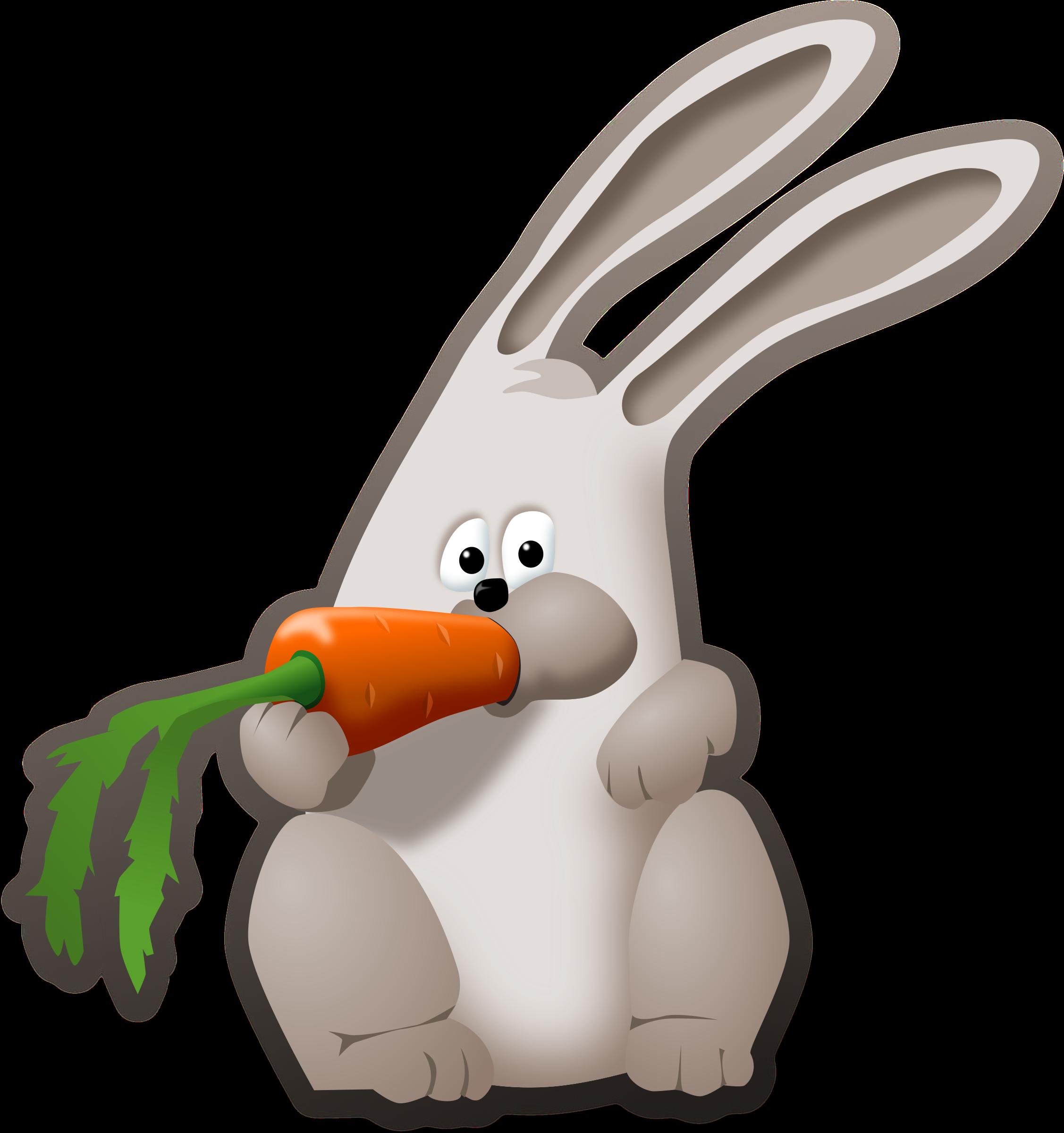 Showing post & media for Cartoon rabbit eating clip art.