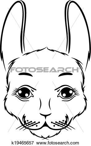 Clip Art of Cute bunny muzzle k19465657.