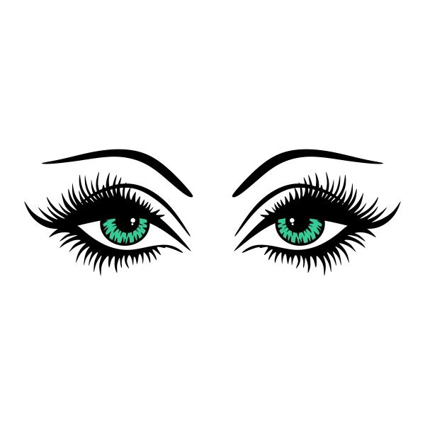 Eye lashes SVG Cuttable Designs.