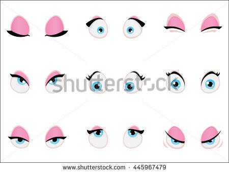Cartoon Eyes Stock Images, Royalty.