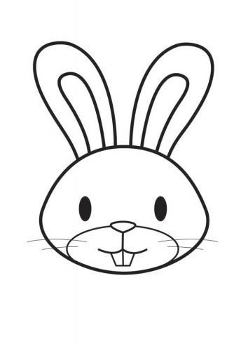 Rabbit Face Clipart Black And White.