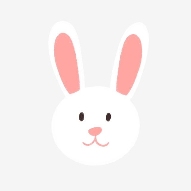 Hand Drawn Cute Bunny Face, Cute, Hand Drawn, Cartoon PNG.