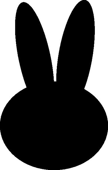 Black Bunny Head PNG, SVG Clip art for Web.