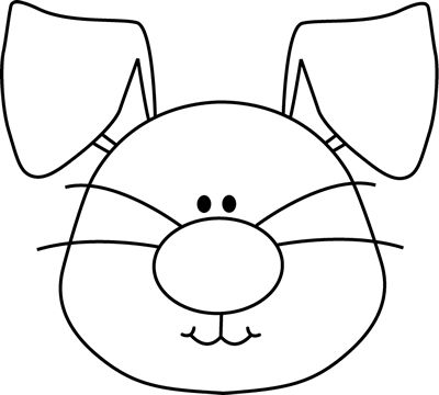 Black And White Bunny Clipart.