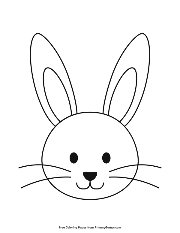 Rabbit Head Coloring Pages.
