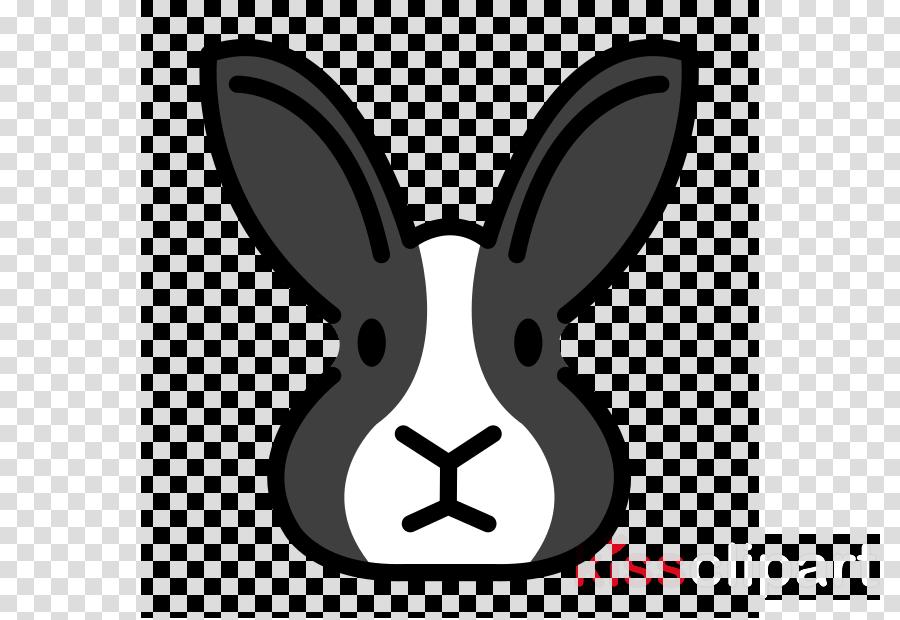 rabbit white cartoon rabbits and hares head clipart.