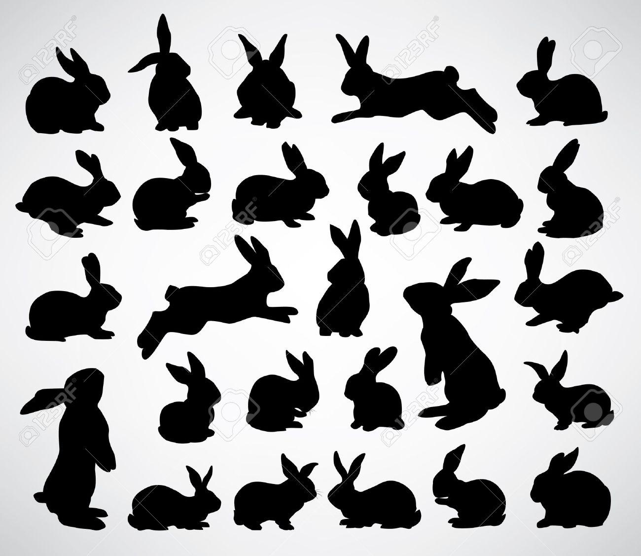 Bunny Head Silhouette Clipart