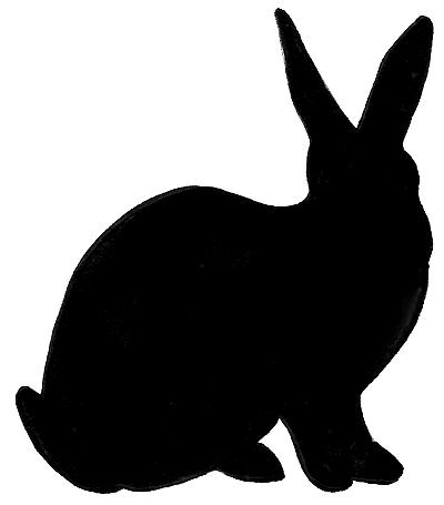 Rabbit Silhouette.