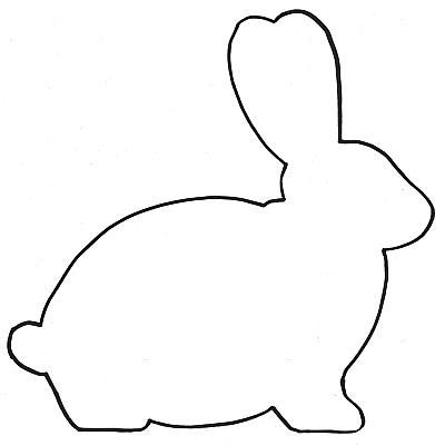Easter Bunny Templates, Silhouette Coloring Pages, Printables.