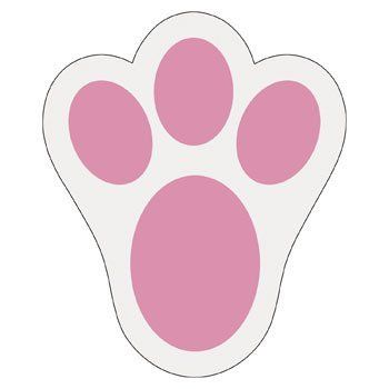 bunny paw print.