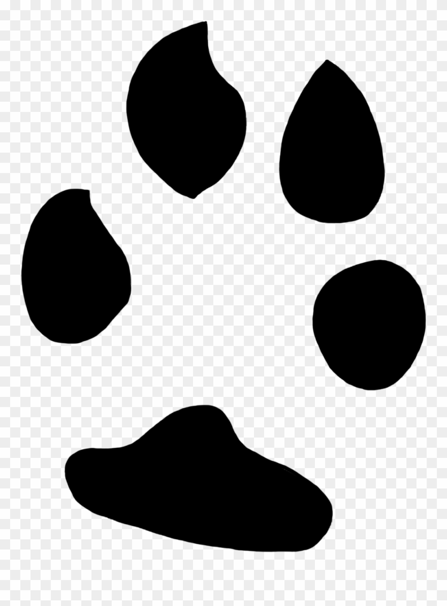 Easter Bunny Clipart Paw Print.