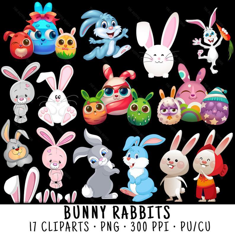 Bunny Clipart, Rabbit Clipart, Bunny Clip Art, Rabbit Clip Art, Bunny PNG,  Rabbit PNG, Clipart Bunny, Clipart Rabbit, Bunny Rabbit.