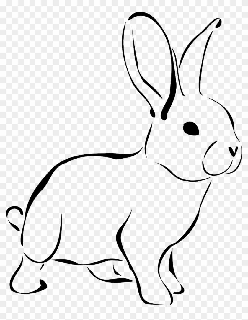 Download Free png Easter Bunny Rabbit Clip Art Rabbit Clipart Black.
