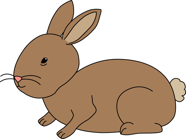 Brown Bunny Rabbit Clip Art.