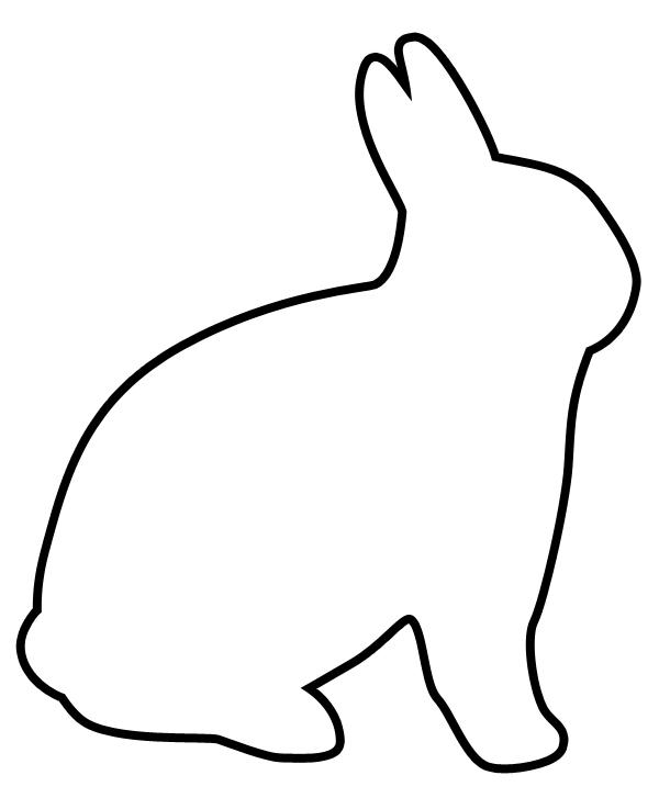 Free Rabbit Outline, Download Free Clip Art, Free Clip Art.