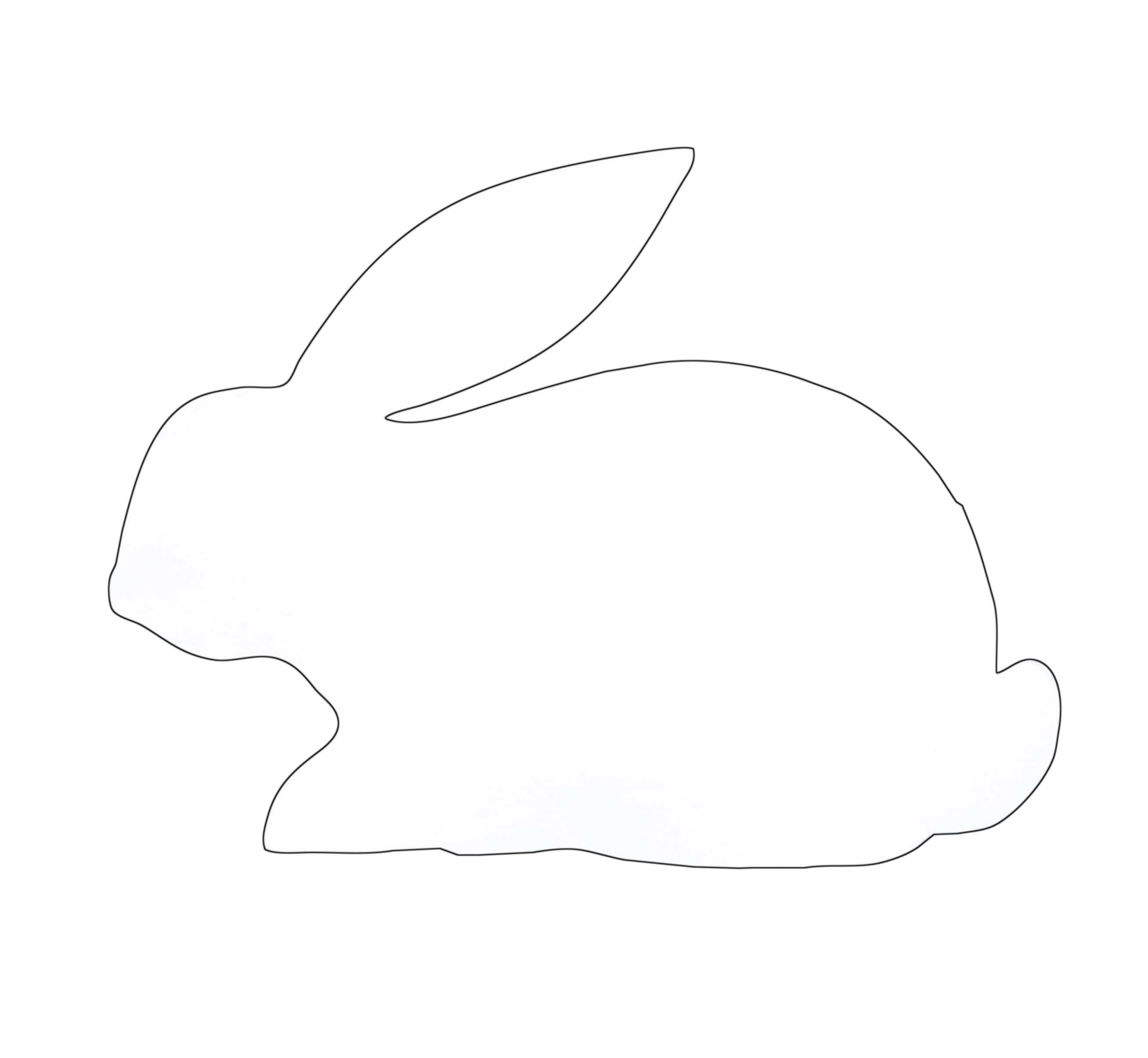 Bunny Rabbit Outline.