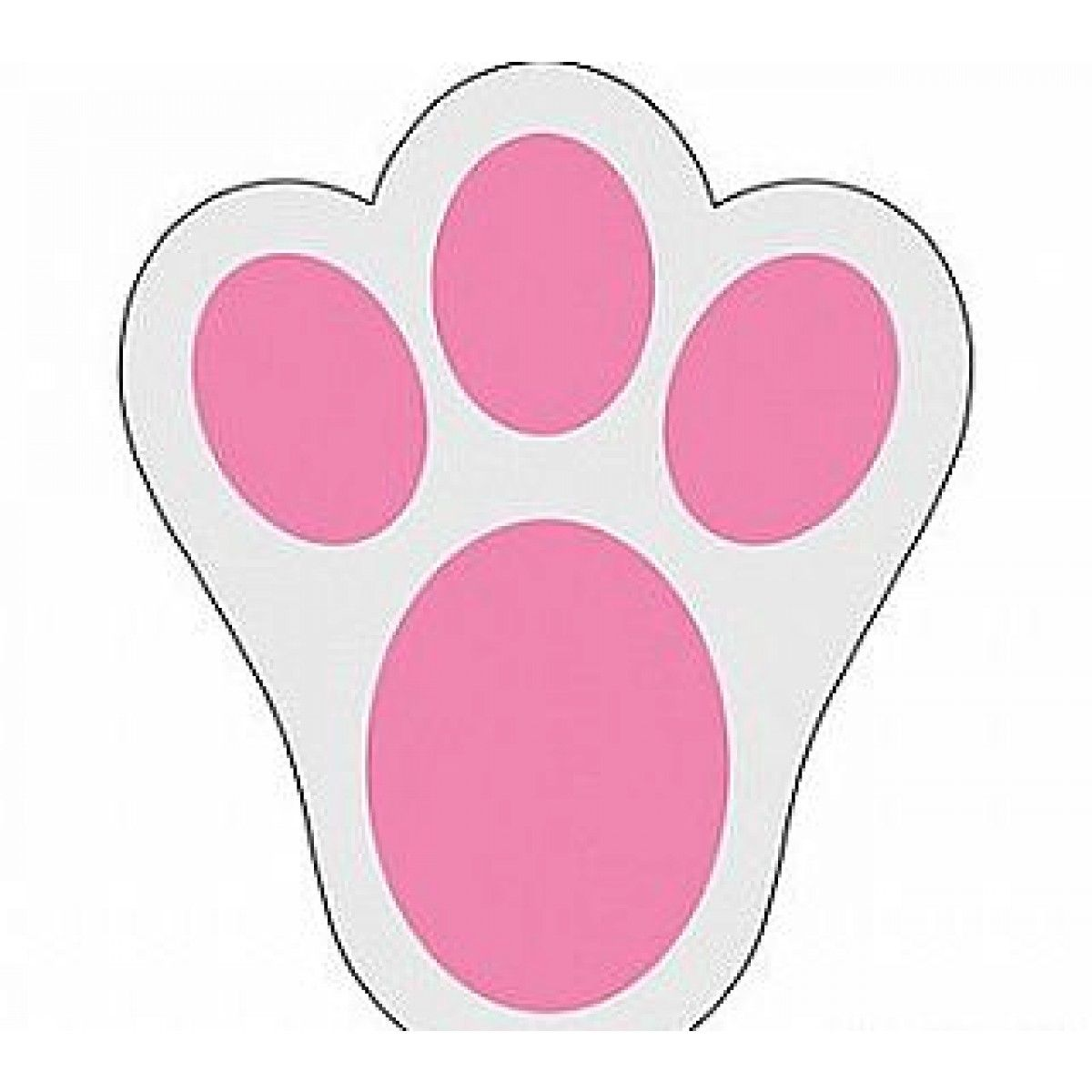 12 Large Easter Bunny Footprint Clings for Egg Hunts.