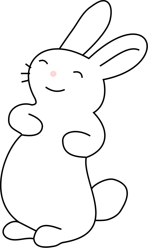 Vector and bunny black and white rabbit clip art.