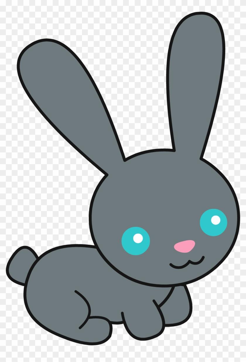Cute Black Bunny Rabbit Free Clip Art Sweetclipart.