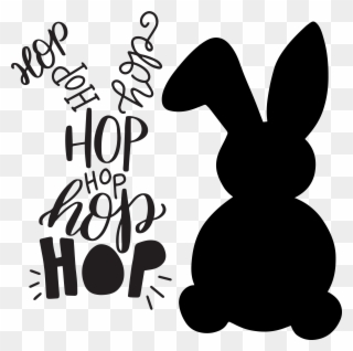 Free PNG Easter Bunny Silhouette Clip Art Download.