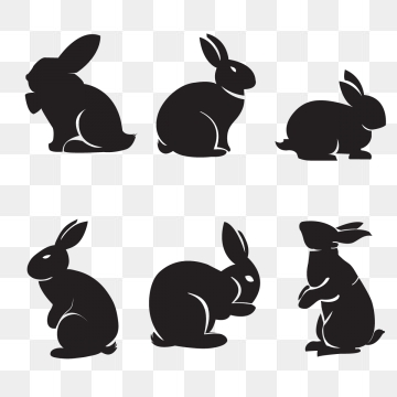 Rabbit Silhouette Png, Vector, PSD, and Clipart With Transparent.