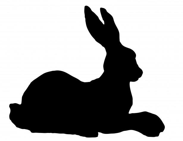 Rabbit Silhouette Clipart Free Stock Photo.