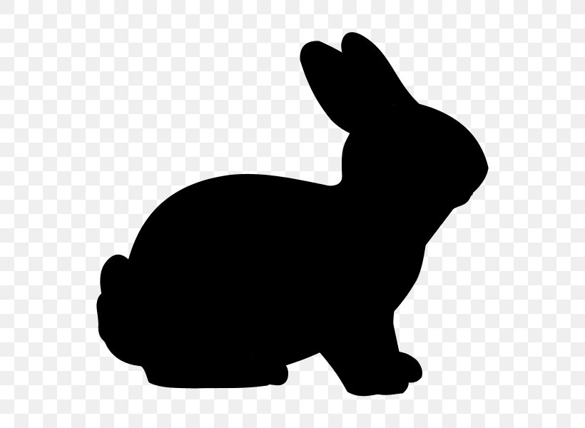Easter Bunny Rabbit Silhouette Clip Art, PNG, 600x600px.