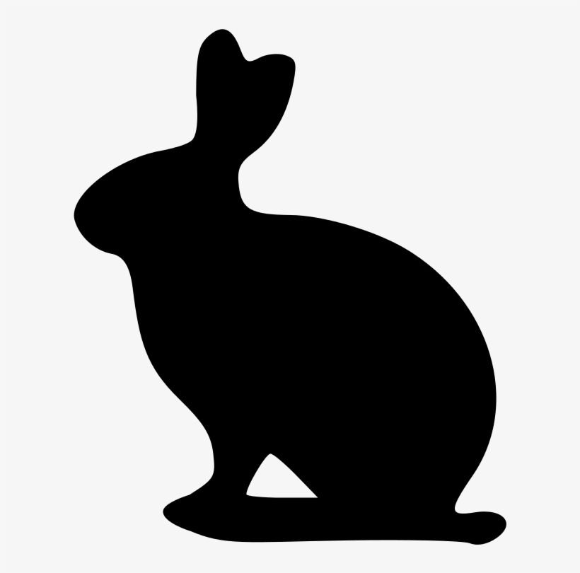 Easter Bunny Silhouette Png Download.